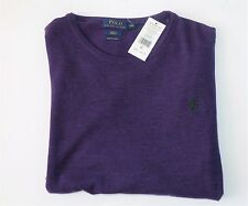 $165 NWT Authentic Polo Ralph Lauren Lana Wool Crewneck Slim Fit Sweater, XXL