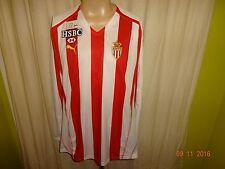 "AS Monaco Puma Langarm Junioren Matchworn Trikot 2007/08 ""HSBC"" + Nr.10 Gr.XL"