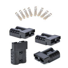 Black 4x Battery Quick Connector 50A 8AWG Plug Connect Disconnect Winch Trailer