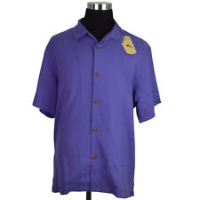 Tommy Bahama Mens Shirt XL Sanibel Blue 100 Silk