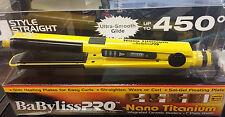 "BABY2071 BABYLISS PRO NANO TITANIUM U STYLE STRAIGHT CURL CERAMIC STYLER 1"""