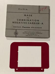 "kodak mask for combination negative carrier A 2 1/4"" X 2 1/2""  A1015"
