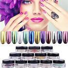 12 Colors Nail Art Powder Box Glitter Magic Mirror Chrome Effect Dust Shimmer BO