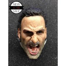 """1/6 Scale Rick Grimes Head Sculpt The Walking Dead for 12"""" Action Figure"""
