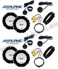 8 Speakers for Alfa Romeo 159 Alpine with adapters and spacer rings