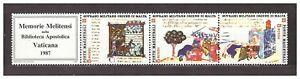 s31362) SMOM 1987 MNH**  Miniature trittico 3v