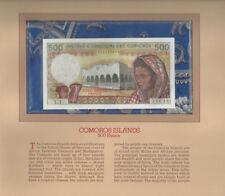 Most Treasured Banknotes Comoros 1976 500 Francs P7a Unc Serie Y.1 002331698