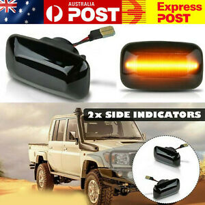 2X Side Repeaters Lights For Toyota Land Cruiser 70 80 100 Series Indicators