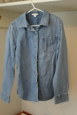 EUC J.Crew Crewcuts Chambray Denim Button Down Shirt 10