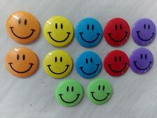 12 Stück 6 Farben 4cm Magnete Kühlschrankmagnete Smiley Smili Gesicht Smile