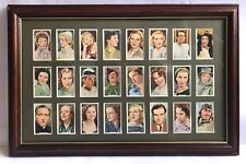 More details for vintage cigarette cards my favourite part movie stars actors mounted and framed