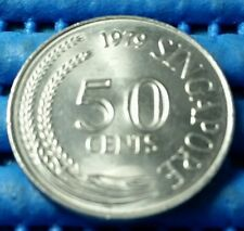 1979 Singapore 50 Cents Lion Fish Coin
