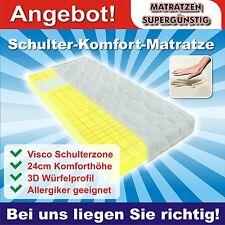"""Schulter Komfort Kaltschaummatratze mit Visco Zone """"Landau"""" 120x200x24 cm H2"""