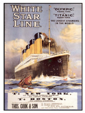 White Star Line RMS Titanic  Poster - Olympic  9 x 12