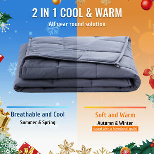 5.5/7/9/11KG Cooling Upgrade Weighted Blanket Promote Deep Sleep Heavy Gravity