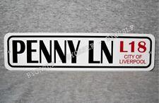 "Metal Sign PENNY LANE street Liverpool England landmark road place LN  3"" x 12"""