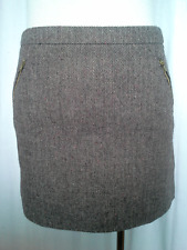 Ladies Womens Tweed Winter A-Line Skirt Above Knee Lined Hot Options Size 10