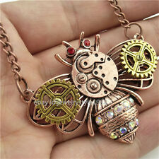 Bee Beetle Steampunk Steam Punk Gear Pendant Bumble Bee Necklace Alloy Insect