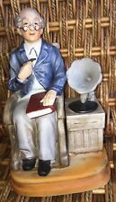 Price import Japan music box grandpa with glasses book and Victrola