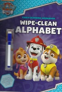 PAW Patrol: Wipe-Clean Book Alphabet ABC Learning Paperback Age 3-7