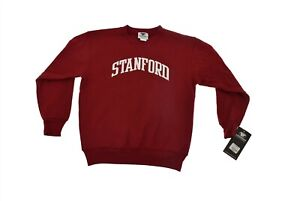 Stanford University Youth Red Pull Over Sweatshirt Crew Small NEW