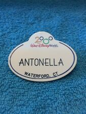 Walt Disney World Cast Member Name Tag Badge 2000 ANTONELLA PIN BACK
