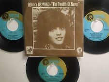 LOT OF 4 ' DONNY OSMOND ' & ' THE OSMONDS ' HIT 45's+1PS    THE 70's!