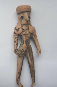RARE ANCIENT INDUS VALLEY HARAPPAN TERRACOTTA FERTILITY FIGURINE 2200-1800 B.C.