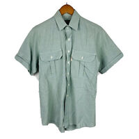 Thomas Cook Mens Button Up Shirt Size Small Made In Australia Vintage