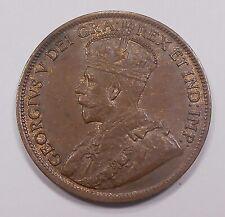 1917 Large Cent CHOICE AU-UNC ** Beautiful HIGH Grade King George V Canada Penny