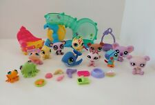 Littlest Pet Shop Lot Of 12 With Accesories, LPS Hasbro, #1466, 1949 Etc
