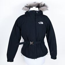 THE NORTH FACE Greenland Parka 550 Fur-lined Hoodie Down Jacket Belted Black S