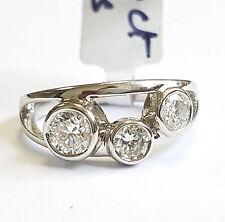 Platinum Round Diamond 3 Stone Raindance Ring