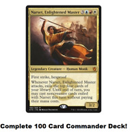 MTG Commander EDH Narset, Enlightened Master 100 Cards Custom Deck R/W/U