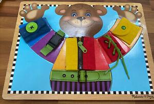 melissa doug wooden latches board
