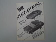 advertising Pubblicità 1965 FIAT 850 SPIDER e COUPE'