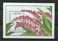 32147) Nevis 1990 MNH New Flowers - Christmas S/S