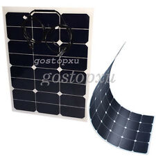 40W 6.8V Flexible Solar Panels Power USB Charge Battery RV Boat Cabin Yacht Home