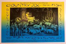 1970 Country Joe & The Fish Blues Image Bill Graham Fillmore Poster Bg 236 Mint