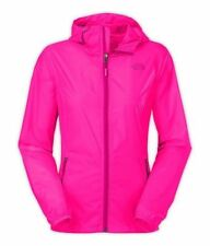 THE NORTH FACE Women's CYCLONE Glo Pink HOODIE Windbreaker Size M New