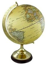 Classy Globe on Holzstand H 22 cm Messinggestell- Antique Design