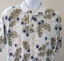 Cutter & Buck Men Size: M Hawaiian Polo Tropical Floral Shirt Casual Golf Cruise