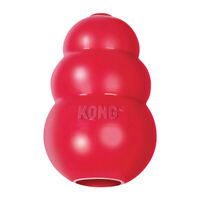 New KONG-Classic Dog Toy-Durable Natural Rubber-Fun to Chew, Chase and Fetch