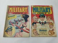 Military Comics #42 & #43 Quality Comics 1945 Blackhawk Golden Age