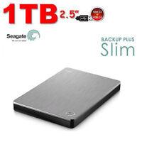 "1TB 2.5"" HARD DISK ESTERNO SEAGATE Backup Plus Slim USB3.0 Argento"