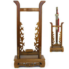 Vertical Samurai Sword Katana Wakizashi Tanto Stand Holder Wood Display Rack Hot