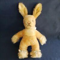 """Vintage Steiff Mohair """"Sassy"""" BUNNY Rabbit, Button ID, Stocktag Remn. Nice C1964"""