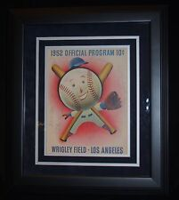 Mel Ott And Others Matted And Framed Multi-Autographed Program Jsa Certified