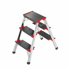 Hailo 4423-001 - taburete / mini escalera aluminio (2x3 Peldaã±os)