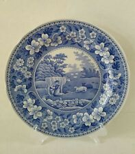 NEW SPODE BLUE ROOM MILKMAID DINNER PLATE COLLECTION TRADITIONS SERIES ENGLAND